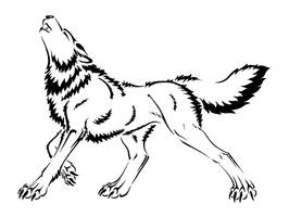 Wolf 'Tattoo?' design by Jianre-M