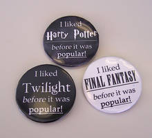 'Popular' Quote-y Button Set by Jianre-M