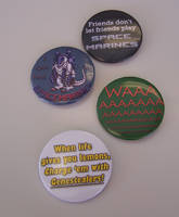 'Warhammer 40k' Quote-y Button Set by Jianre-M