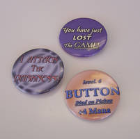 'Gamer' Quote-y Button Set by Jianre-M