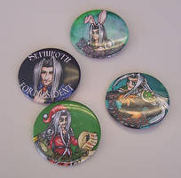 'Sephiroth' Quote-y Button Set by Jianre-M