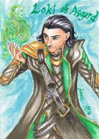 Loki of Asgard - Playing Card by Jianre-M