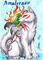 Amaterasu - Playing Card by Jianre-M