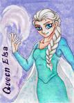 Queen Elsa - Playing Card