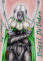 Drizzt Do'Urden  Playing Card by Jianre-M
