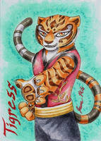 Tigress - Playing Card by Jianre-M