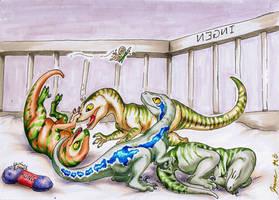 Baby Raptors by Jianre-M