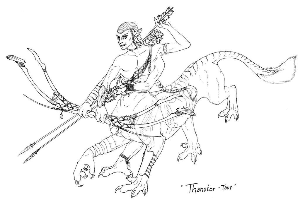 Thanator-taur Commission - Ink