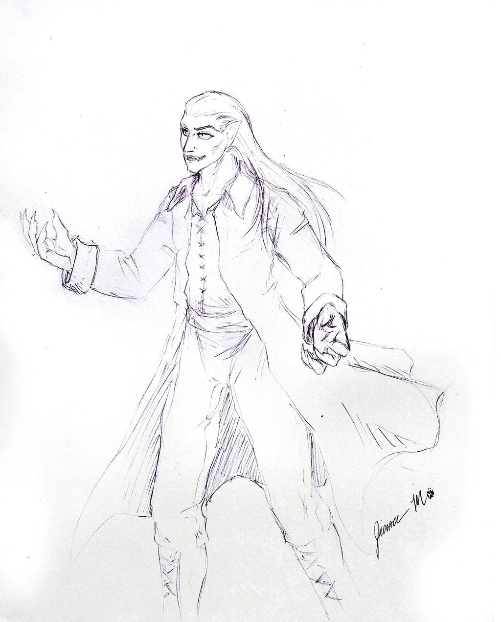 Sketch Request - vampire by Jianre-M