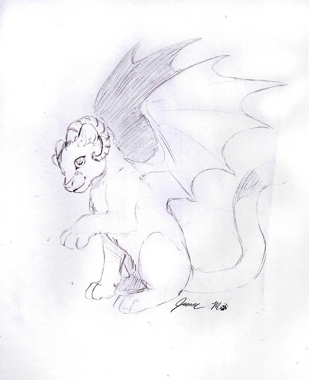 Sketch Request - Demon Cougar by Jianre-M