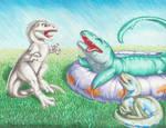 Jurassic World Pool Party by Jianre-M