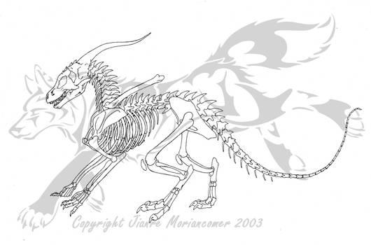 Dragon Skeleton by Jianre-M