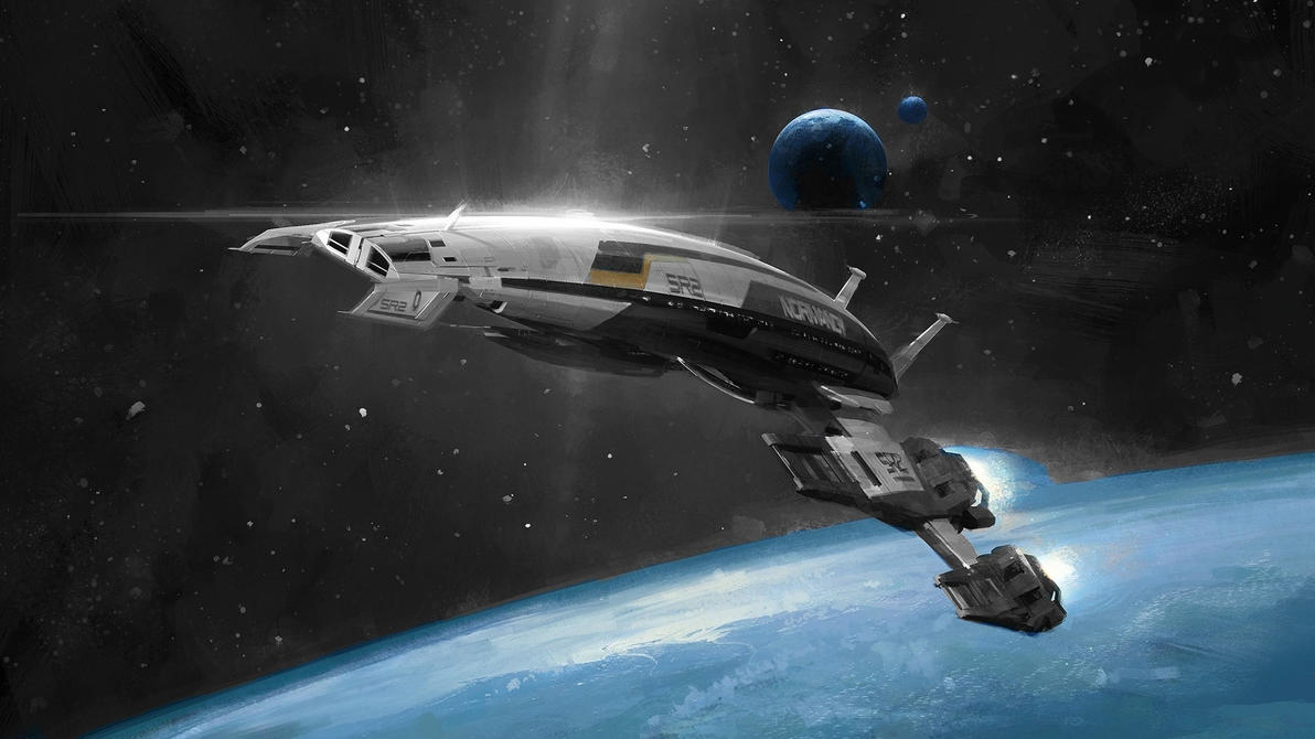 Normandy SR2 on patrol by mittens959