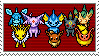 Eeveelutions Stamp by werewolfpokemon
