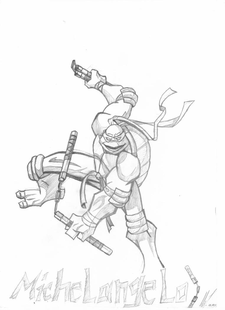Ninja turtle michelangelo drawing - photo#23
