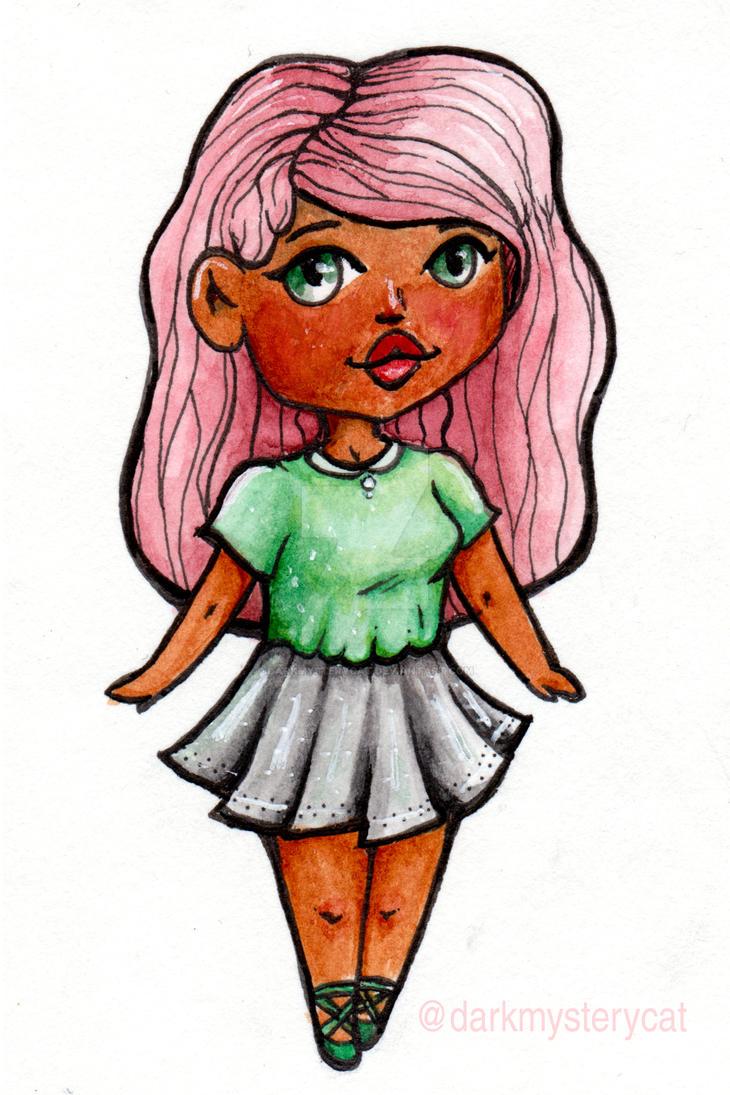 Chibi girl by DarkMysteryCat