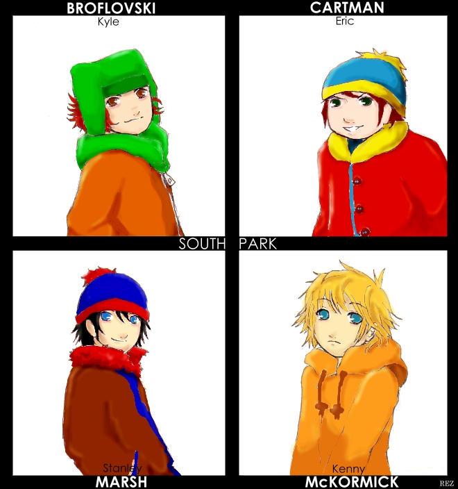 South Park Anime Kenny X Kyle South park anime-ish. by