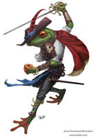 Grippli fencer by waronmars