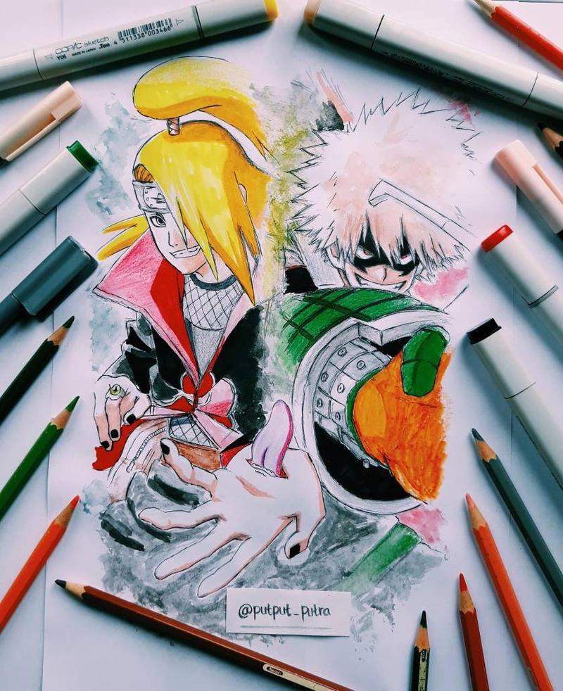 Deidara and Bakugou by exoofink311