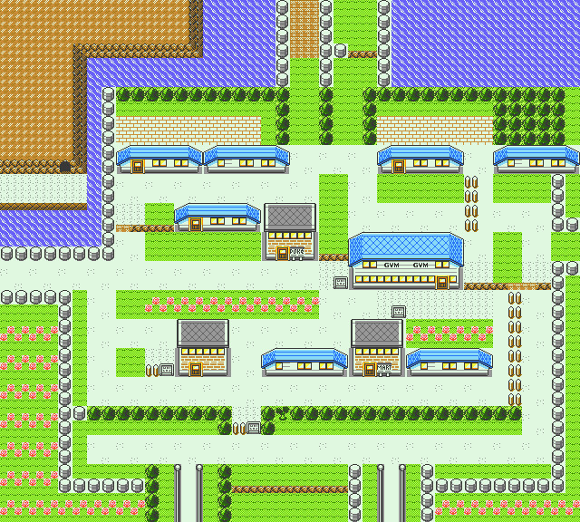 Cerulean City In Pokemon Yellow For Gbc By Ck47 On Deviantart