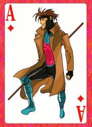 Art Trade: Gambit by dragonbarnesz