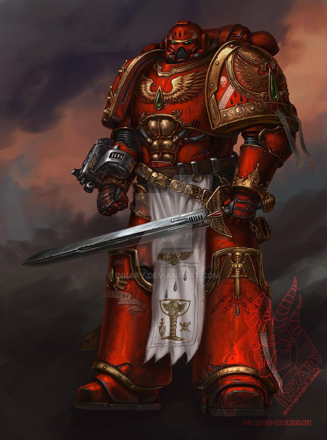 Warhammer 40k death company wallpaper - Diegogisbertllorens 718 16 Ventarael Of Blood Angels By Inkary