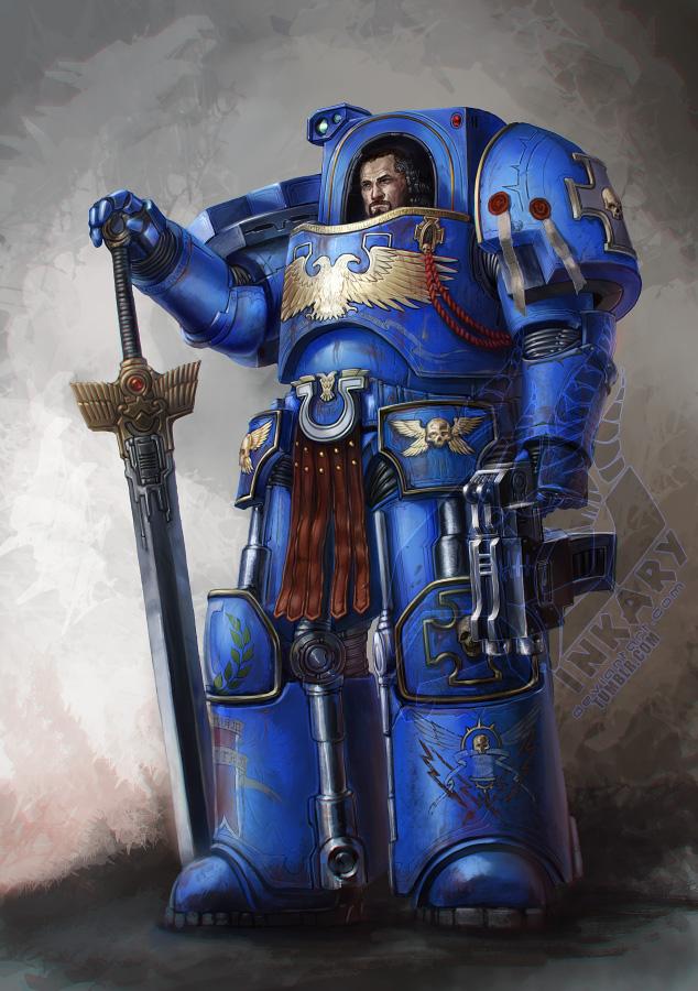 Terminator sergeant Ziegfried Arcanus by Inkary