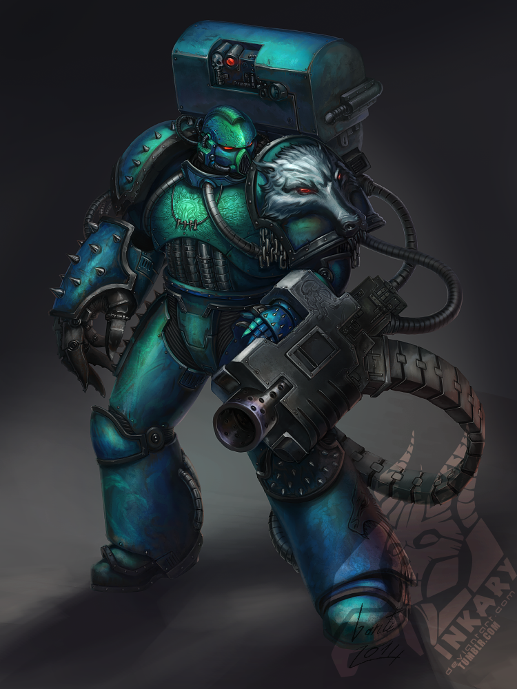 XX legion devastator sgt with a thing for wolves by Inkary