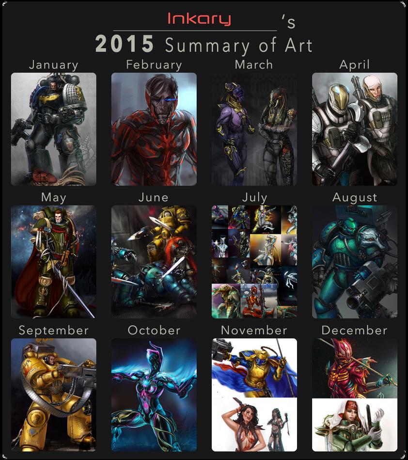 2015 summary of art by Inkary