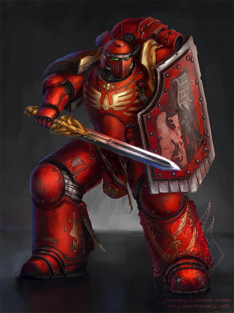 Blood Angel - Legion breacher squad by Inkary