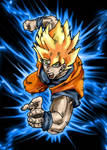 Electric blue Goku
