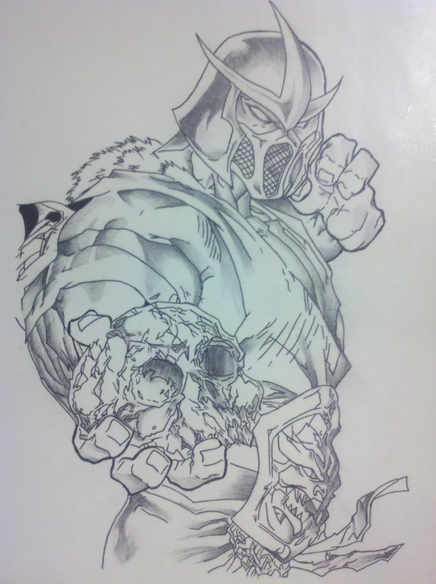 sub zero by captaincorpse666 fan art traditional art drawings games ...