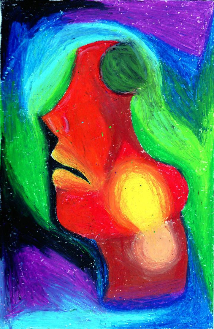 Oil pastel work by jailbait lion