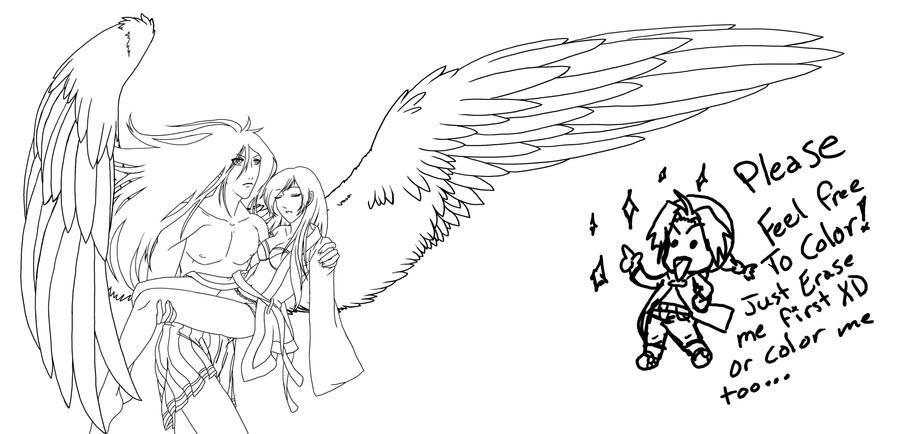 Line Art Wings : Saving wings lineart by auffallend on deviantart