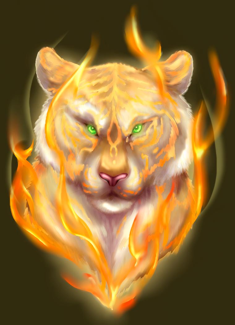 Tigress of Flame SPEEDPAINT by Auffallend
