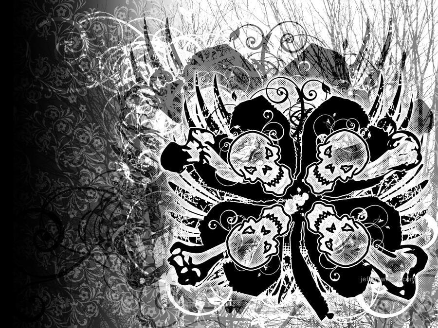 SkullRock Abstract 01 by JefferyWright