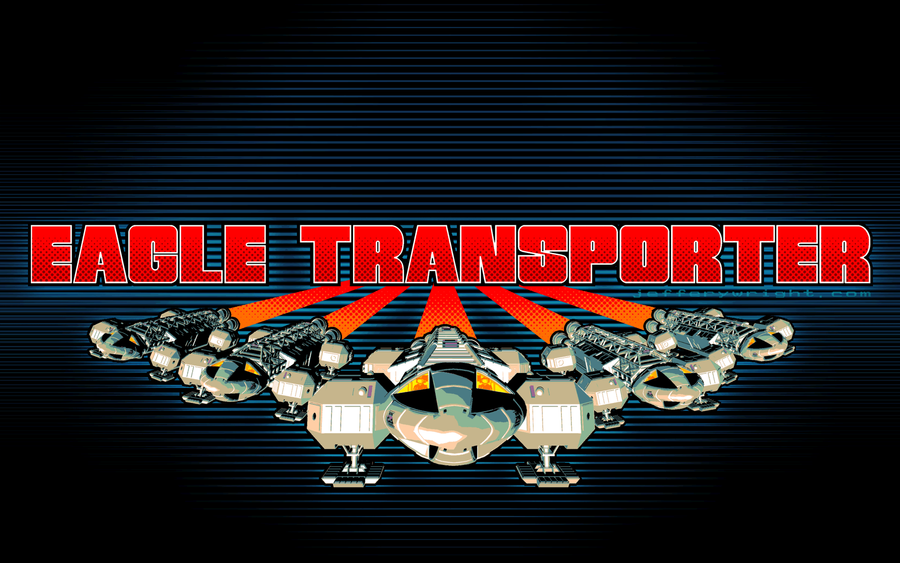 Eagle Transporter Descent Wallpaper by JefferyWright