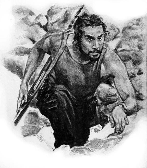 Dibujando......... Sayid_by_RobD4E