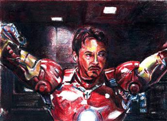 Tony Stark Sketchcard by RobD4E