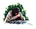 Jesus Praying in Gethsemene