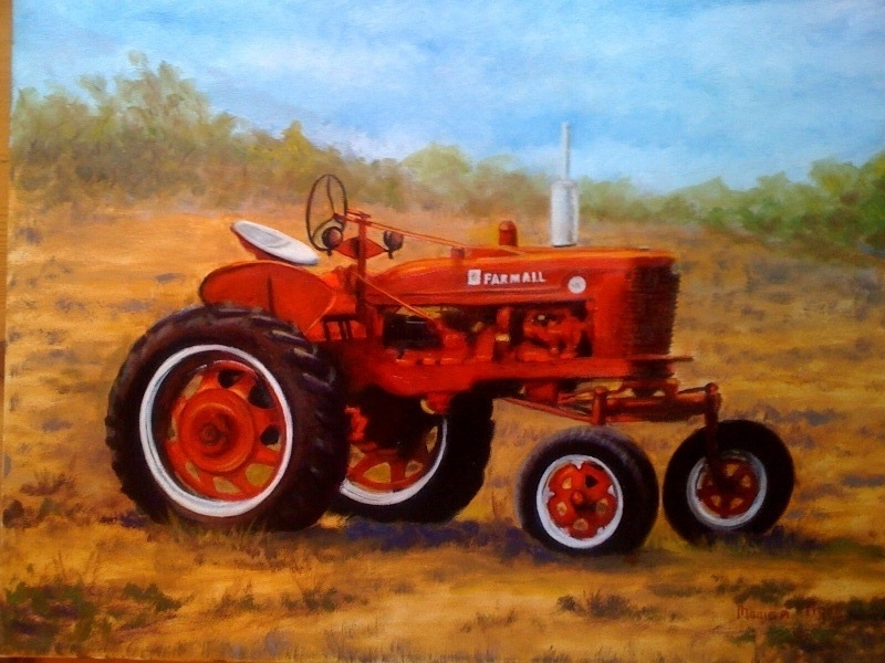 Farmall Tractor Painting : Tractor oil painting by agstudio on deviantart