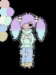 Pastel Goth Girl Adopt by cookiecrunchers