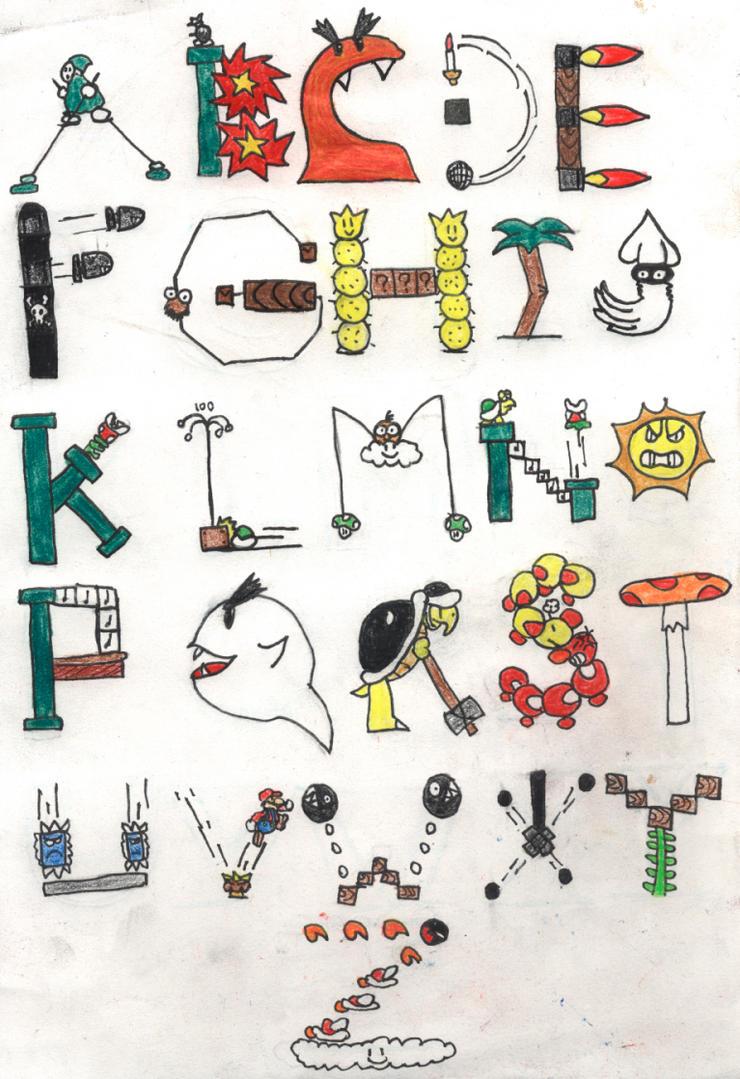 Nintendo Alphabet by BrawlKoopa