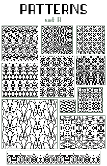 pixel patterns - set A by base-o-holic