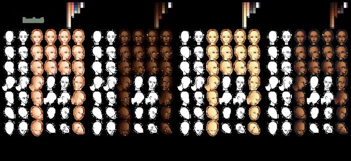 - Mandarin - heads - by base-o-holic