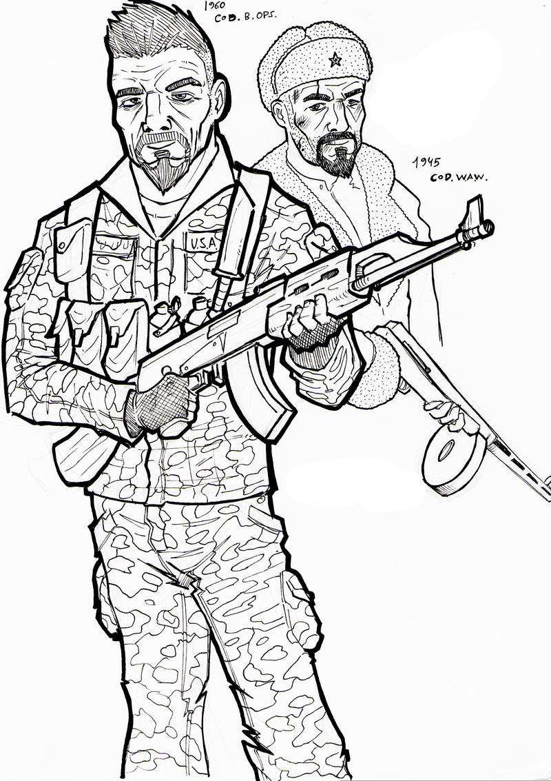 Call of duty black ops by tolodibuixo on deviantart for Call of duty coloring page
