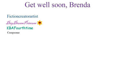 Get well card for Brenda