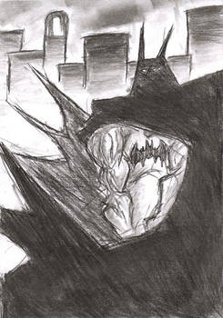 Coal Sketch- I'm BATMAN