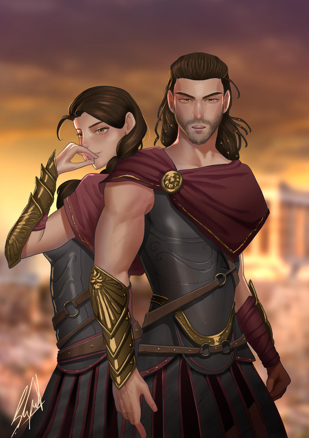 Alexios And Kassandra Assassin S Creed Odyssey By Supzter On