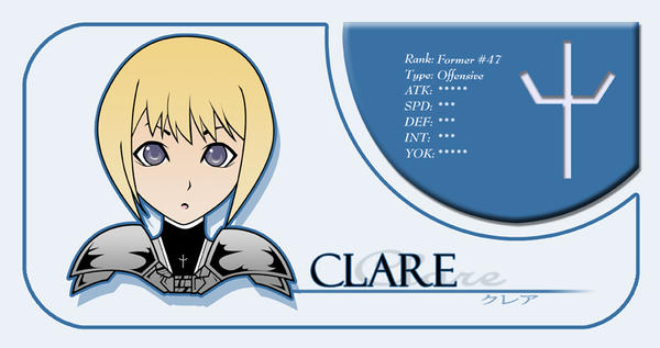 Clare Claymore Card by niwre-san
